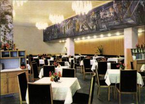 Ak Magdeburg in Sachsen Anhalt, Restaurant Moskwa im Hotel International, Innenansicht