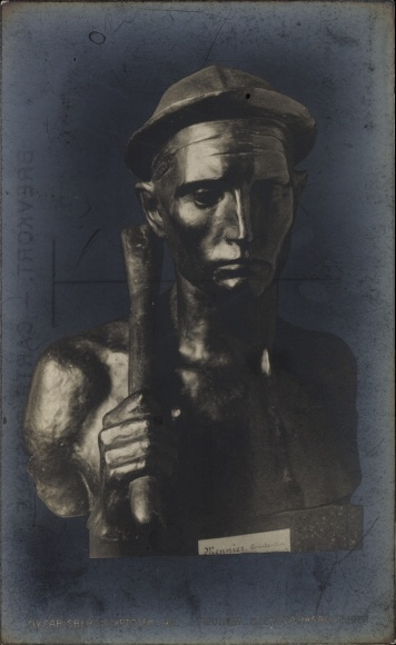 Ak Plastik von Meunier, Bjergvaerksarbejder, NY Carlsberg Glyptotek, Bergmann