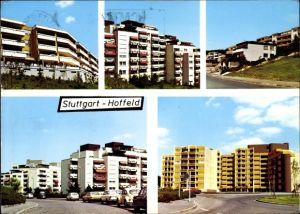 Ak Hoffeld Stuttgart in Baden Württemberg, Hochhäuser, Straßenansicht