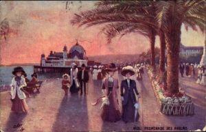 Künstler Ak Nice Nizza Alpes Maritimes, Promenade des Anglais, Tuck Série 133 No 81