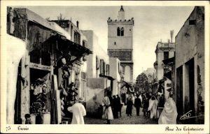 Ak Tunis Tunesien, Rue des Teinturiers, Färbergasse