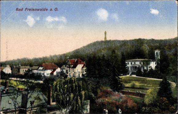 Ak Bad Freienwalde an der Oder, Teiansicht vom Ort
