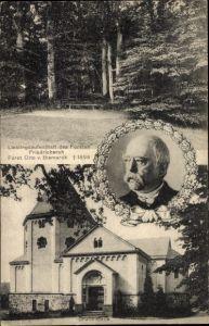 Ak Friedrichsruh Aumühle, Fürst Otto von Bismarck, Portrait, Gruftkapelle