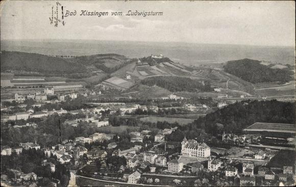 Ak Bad Kissingen Unterfranken Bayern, Blick auf Stadt vom Ludwigsturm