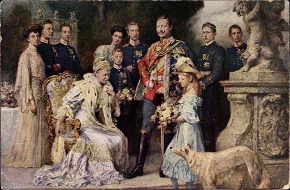 Künstler Ak Keller, Ferdinand, Deutsches Kaiserhaus unter Wilhelm II. von Preußen, Windhund, RPH