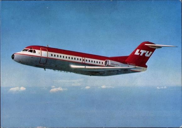 Ak Fokker F 28 Fellowship, Passagierflugzeug der LTU