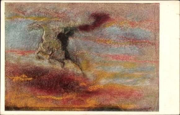 Künstler Ak Welti, Albert, Der Reiter der Höhe, Allegorie