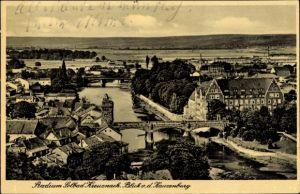 Ak Bad Kreuznach in Rheinland Pfalz, Stadtpanorama von der Kauzenburg