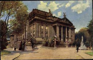 Künstler Ak Hoffmann, H., Wiesbaden in Hessen, Partie am königlichen Theater