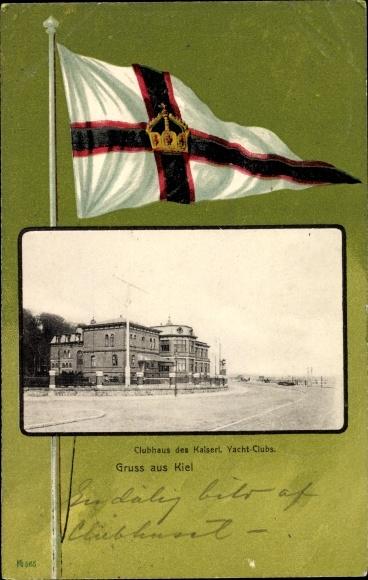 Passepartout Ak Kiel in Schleswig Holstein, Klubhaus des Kaiserl. Yacht Klubs