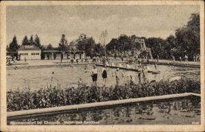 Ak Hartmannsdorf im Kreis Mittelsachsen, Natur- und Sportbad, Badegäste