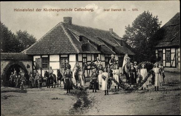 Ak Katlenburg Lindau in Niedersachsen, Heimatfest der Kirchengemeinde, Graf Dietrich III.