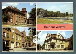 Ak Welzow in der Niederlausitz, Rat der Stadt, Freibad, Spremberger Straße, Kreissparkasse