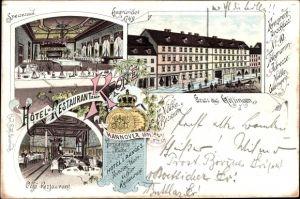 Litho Göttingen in Niedersachsen, Hotel und Restaurant zur Krone, Bes. Fr. Nölke, Speisesaal