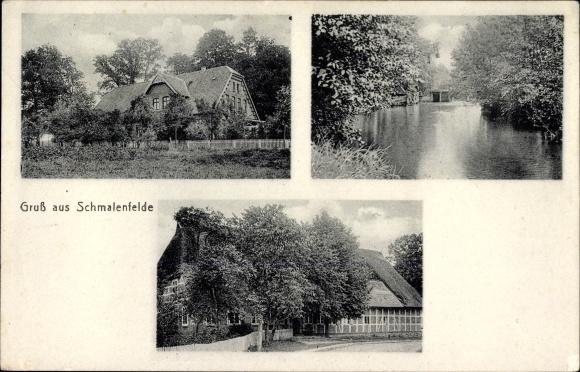 Ak Schmalenfelde Oldendorf in Niedersachsen, Blick auf Ortschaft und Umgebung