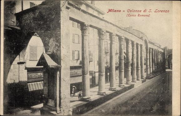Ak Milano Mailand Lombardia, Colonne di S. Lorenzo