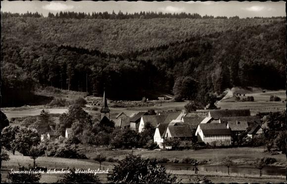 Ak Wahmbeck Bodenfelde in Niedersachsen, Blick auf den Ort, Sommerfrische