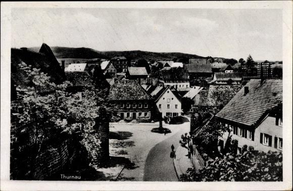 Ak Thurnau in der Fränkischen Schweiz Bayern, Partie der Ortschaft aus der Vogelschau