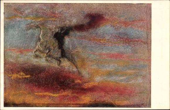 Künstler Ak Welti, Albert, Nr. 216, Der Reiter der Höhe, Abstraktes Gemälde