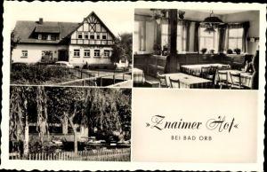 Ak Lettgenbrunn Jossgrund in Hessen, Znaimer Hof, Inh. Wilh. Wollinger