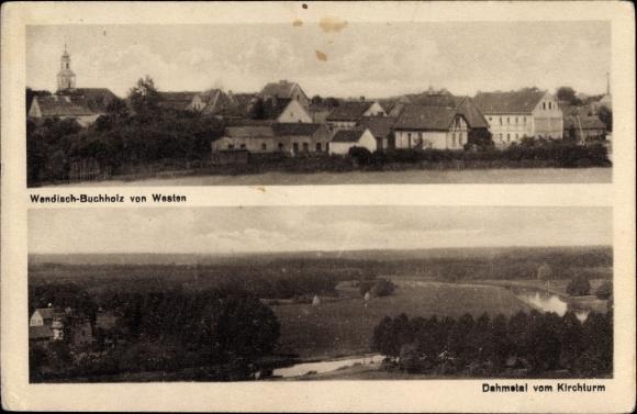 Ak Wendisch Buchholz Märkisch Buchholz in Brandenburg, Dahmetal, Totale von Westen