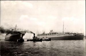 Ak Dampfer SS Statendam, SS Nieuw Amsterdam, Holland America Line, HAL
