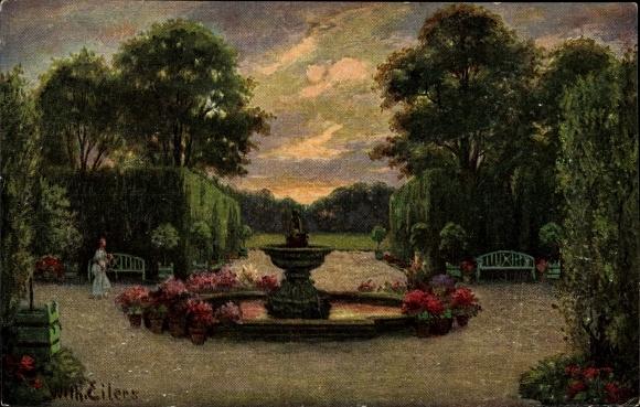 Künstler Ak Eilers, Wilhelm, Der Schlossbrunnen, Parkanlage, Degi Nr. 357