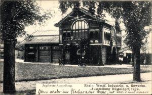 Ak Düsseldorf am Rhein, Gewerbeausstellung Ausstellung 1902, Jagdbeute Ausstellung