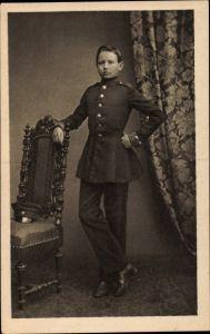 Ak Generalfeldmarschall Paul von Hindenburg als Kadett in Wahlstatt 1860