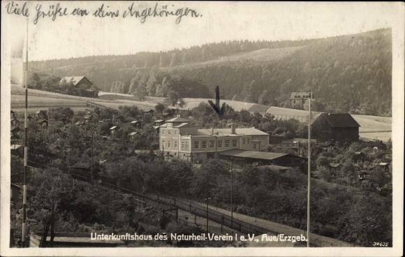 Ak Aue im Erzgebirge Sachsen, Unterkunftshaus des Naturheilverein I e.V.