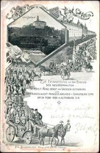 Ak Altenburg Thüringen, Schloss, Nachod, Hochzeit Ernst von Sachsen Altenburg, Prinzessin Adelheid
