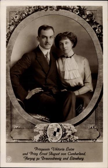 Passepartout Ak Prinzessin Viktoria Luise, Herzog Ernst August von Braunschweig, NPG
