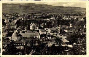 Ak Kudowa Zdrój Bad Kudowa Schlesien, Panorama, Kuranlagen