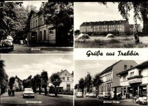Ak Trebbin im Kreis Teltow Fläming, Bahnhof. Bahnhofstraße, Berliner Straße