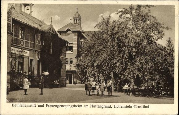 Ak Hohenstein Ernstthal Landkreis Zwickau, Bethlehemstift und Frauengenesungsheim im Hüttengrund