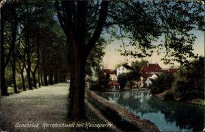 Ak Osnabrück in Niedersachsen, Herrnteichswall mit Haasepartie