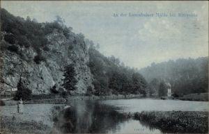 Ak Mittweida in Sachsen, Flusspartie an der Lauenhainer Mühle