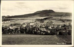 Ak Sehmatal Cranzahl im Erzgebirge, Blick auf den Ort und den Bärenstein
