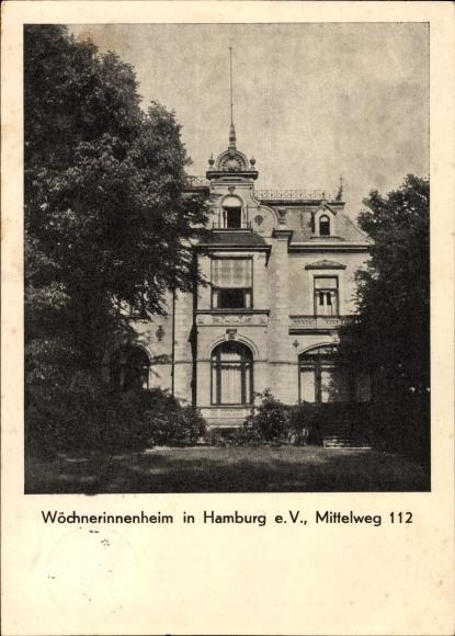 Ak Hamburg Eimsbüttel Harvestehude, Wöchnerinnenheim, Mittelweg 112
