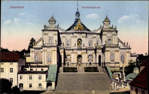 Ak Wambierzyce Albendorf Schlesien, Wallfahrtskirche