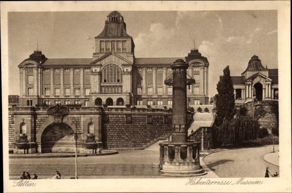 Ak Szczecin Stettin Pommern, Hakenterrasse, Museum