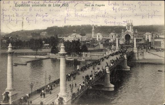 Ak Liège Lüttich Wallonien, Expo 1905, Pont de Fragnée, Weltausstellung