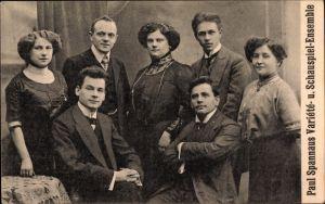 Ak Paul Spannaus Variété und Schauspiel Ensemble, Gruppenportrait