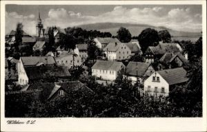 Ak Wilthen im Kreis Bautzen Sachsen, Stadtpanorama, Glockenturm