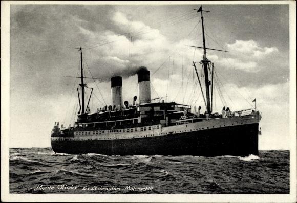 Ak Dampfschiff Monte Olivia, Zweischraubenmotorschiff, HSDG