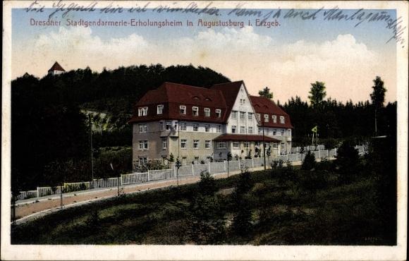 Ak Augustusburg im Erzgebirge, Dresdner Stadtgendarmerie Erholungsheim