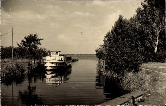 Ak Kolberg Heidesee Brandenburg, Hafen am Strandkasino, PMS Freya