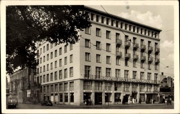 kofferaufkleber hannover grand hotel mussmann hotoelgeb ude nr 6193412 oldthing sonstige. Black Bedroom Furniture Sets. Home Design Ideas