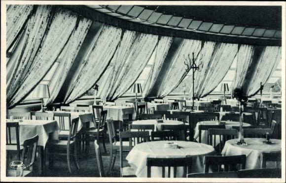 Ak Dresden Zentrum Altstadt Kugelhaus Café Restaurant Inneres Stengel