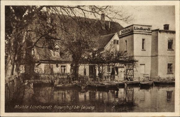 Ak Naunhof im Kreis Leipzig, Mühle Lindhardt, Bes. Ernst Schurk